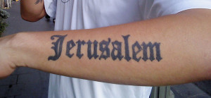 Jerusalem tatoo