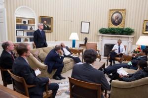 I sanningens ögonblick. (Foto: Vita huset)