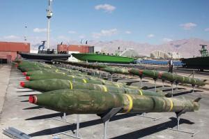 Iransktillverkade raketer som försöktes smugglas till Gaza i juli 2014 (foto: IDF)
